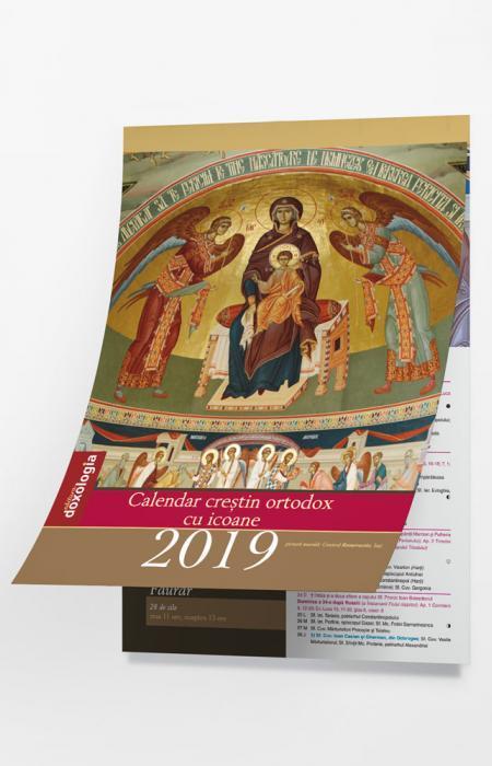 Calendar creștin ortodox cu icoane 2019